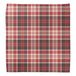 Bandana Modelo rojo y negro de la tela escocesa