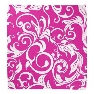 Bandana Modelo rosado fucsia brillante del papel pintado