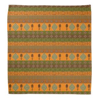 Bandana modelo tribal rayado africano étnico