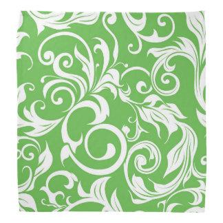 Bandana Modelo verde brillante del papel pintado floral de