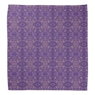 Bandana Naturaleza púrpura reflejada de Paisley