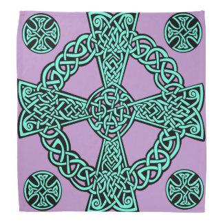 Bandana Nudo de la lavanda de la turquesa de la cruz