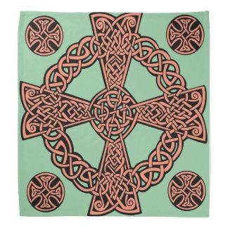 Bandana Nudo del melocotón de la verde menta de la cruz