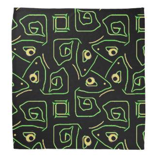 Bandana Ojo verde y amarillo fresco del modelo tribal del