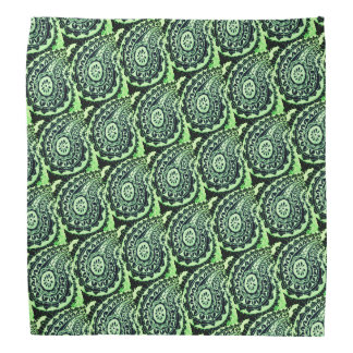 Bandana Paisley floral verde decorativa