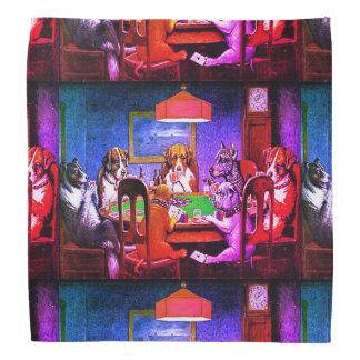 Bandana Perros que juegan el póker un amigo en necesidad
