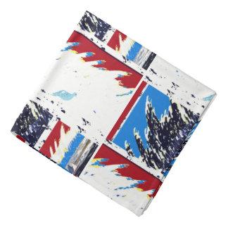 Bandana Personalizado azul blanco rojo náutico de los