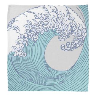 Bandana Playa asiática japonesa del océano de la impresión
