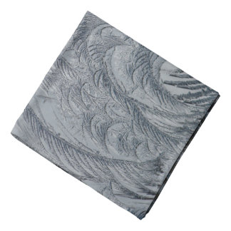 Bandana Plumas abstractas del gris del fondo