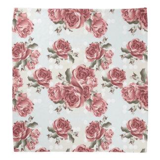 Bandana Ramo dibujado romántico de los rosas rojos del