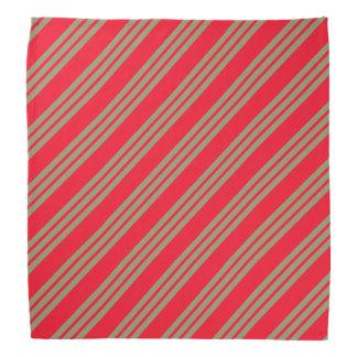 Bandana Rayas diagonales rojas