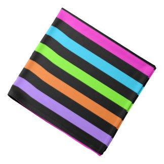 Bandana Rayas negras y multicoloras