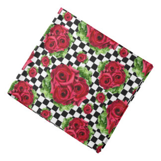 Bandana Rockabilly floral del amor del ramo de los rosas