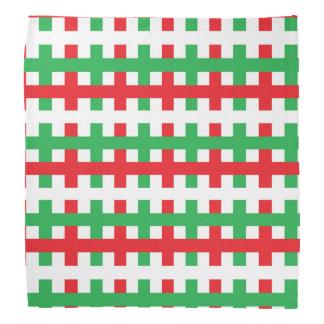 Bandana Rojo abstracto, blanco y verde