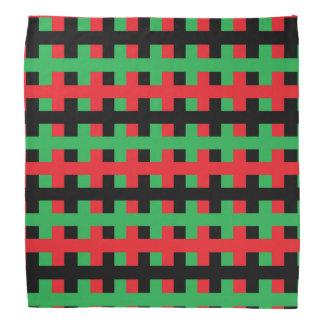Bandana Rojo, negro abstracto y verde