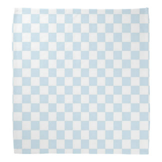 Bandana Tablero de damas azul y blanco en colores pastel
