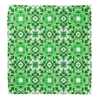 Bandana Teja, esmeralda y verde lima marroquíes florales