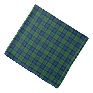 Bandana Tela escocesa azul, verde, y roja del tartán de