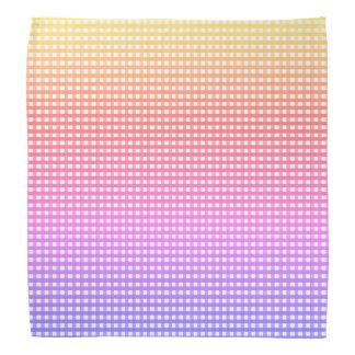 Bandana Tela escocesa del arco iris