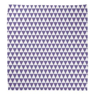 Bandana Triángulos geométricos púrpuras blancos y