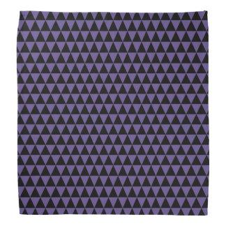 Bandana Triángulos geométricos púrpuras negros y