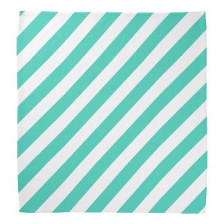 Bandana Trullo y modelo diagonal blanco de las rayas