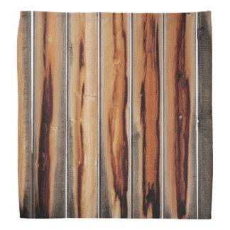 Bandana Único fresco de la textura de madera de la cerca