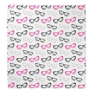 Bandana Vidrios y latigazos rosados, negros y grises