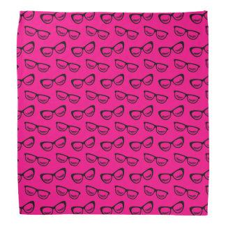 Bandana Vidrios y negro de los latigazos en rosa