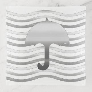 Bandeja abstracta elegante del paraguas
