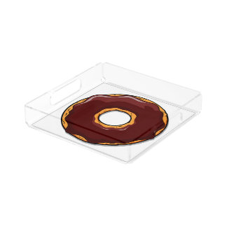 Bandeja Acrílica 1 diseño del buñuelo del chocolate del dibujo