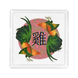 Bandeja Acrílica Año del círculo del gallo