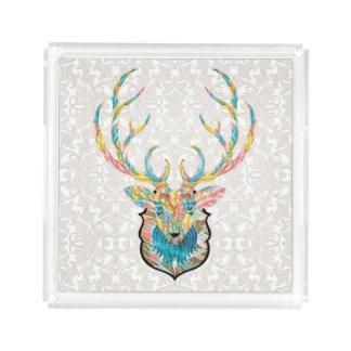 Bandeja Acrílica Armonía de los ciervos del invierno
