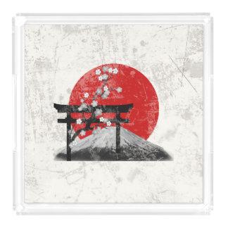 Bandeja Acrílica Bandera y símbolos de Japón ID153