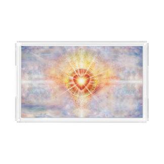 Bandeja Acrílica Corazón celestial H038