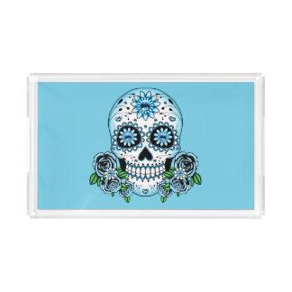 Bandeja Acrílica Cráneo azul del azúcar