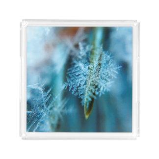 Bandeja Acrílica Cristal de hielo, invierno, nieve, naturaleza