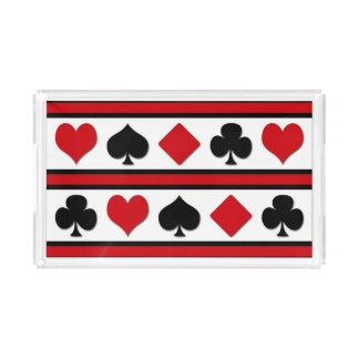 Bandeja Acrílica Cuatro juegos de la tarjeta