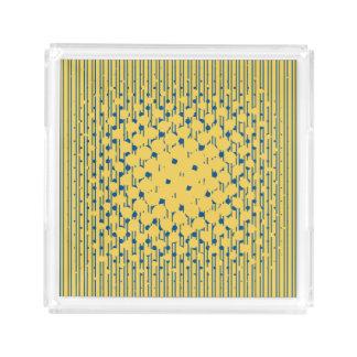 Bandeja Acrílica Densidad en amarillo de la primavera y el azul de