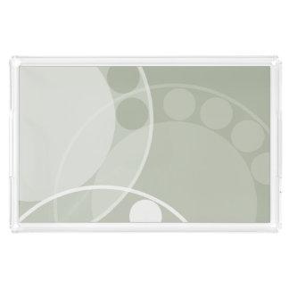 Bandeja Acrílica Diseño de la fronda del helecho - verde claro -