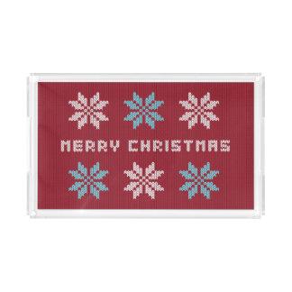 Bandeja Acrílica El suéter hecho punto del navidad inspiró la