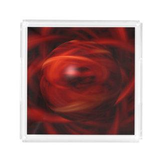 Bandeja Acrílica Esfera del fuego rojo