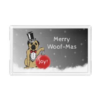 Bandeja Acrílica ¡Exposiciones caninas de sir Pug sus deseos del