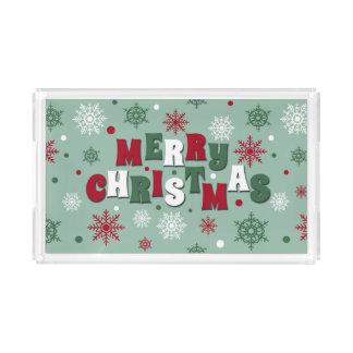Bandeja Acrílica Felices Navidad