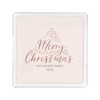 Bandeja Acrílica Felices Navidad modernas de las estrellas el |