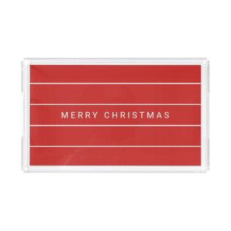Bandeja Acrílica Felices Navidad modernas simples
