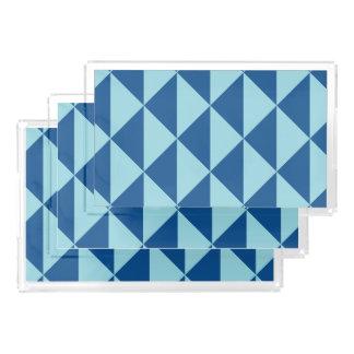 Bandeja Acrílica Flechas geométricas del azul del paraíso de la