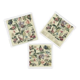 Bandeja Acrílica Flores botánicas del vintage silenciado