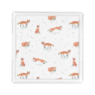Bandeja Acrílica Fox del invierno