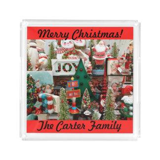 Bandeja Acrílica Galletas y Cocos del navidad SU árbol CONOCIDO de